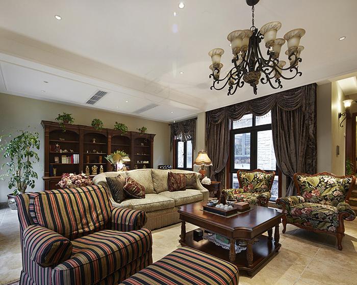 美式 别墅 超凡装饰 客厅图片来自沪上名家装饰在金沙湖美式婚房的分享