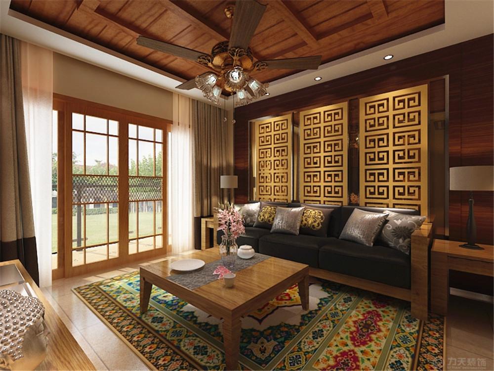 东南亚 二居 收纳 白领 80后 小资 客厅图片来自阳光力天装饰在宝龙城-80.00㎡-东南亚风格的分享