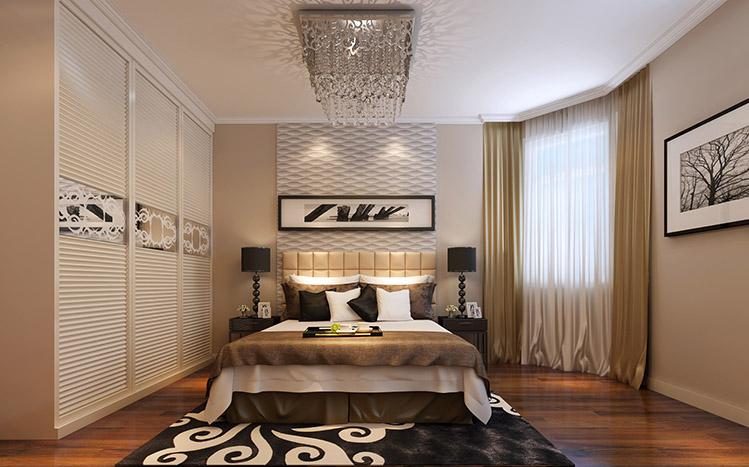现代简约 二居 收纳 小资 卧室图片来自兰州实创家装在悠然生活两室-现代风的分享