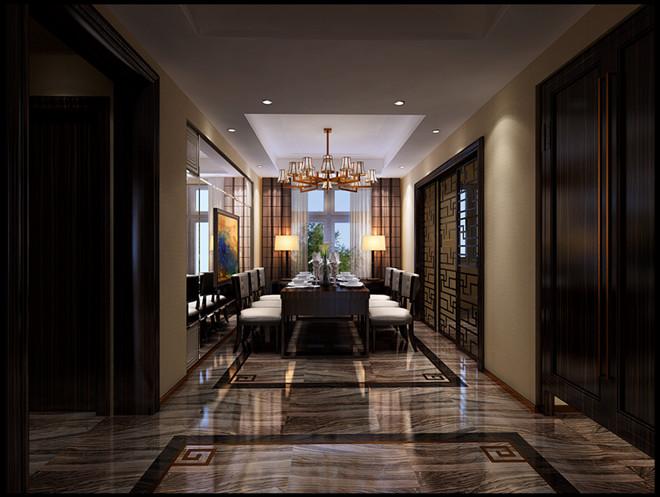 西山壹号院 中式 餐厅图片来自凌军在西山壹号院175平米  中式的分享