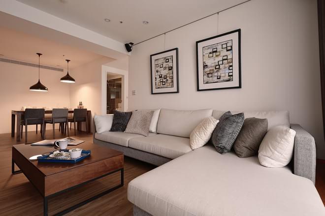 现代简约 客厅图片来自元洲-顺康在105平米现代简约【温润如玉】的分享