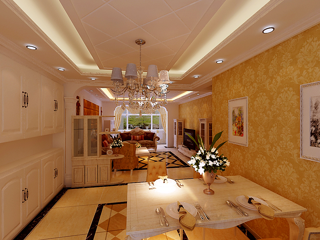 欧式 三居 餐厅图片来自沈阳新饰家装饰在沈阳紫郡河畔143平欧式【5.7万】的分享