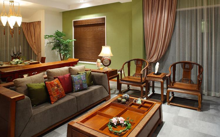 新中式 别墅 收纳 客厅图片来自兰州实创家装在桂林山水家天下的分享