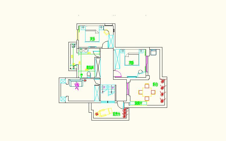 混搭 收纳 80后 老人房 新中式 四居 兰州装修 实创装饰 大户型 户型图图片来自家居装饰-赫拉在大户型暖色系和谐新中式的分享