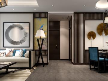 五矿新中式风格样板房设计案例