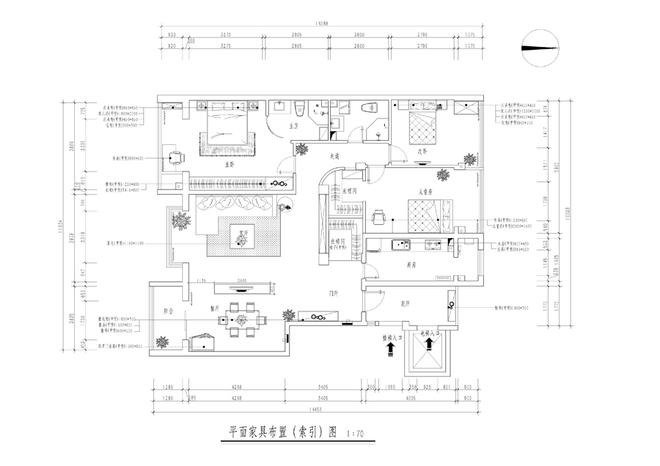 简约 三居 白领 户型图图片来自业之峰装饰旗舰店在中景·江山赋130平三居的分享