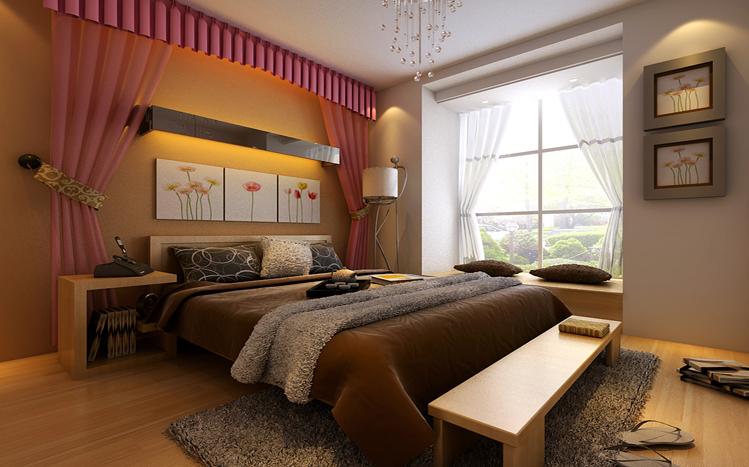 简欧 89平 卧室图片来自郑州实创装饰-杨淑平在翡丽首席公馆89平浪漫简欧设计的分享