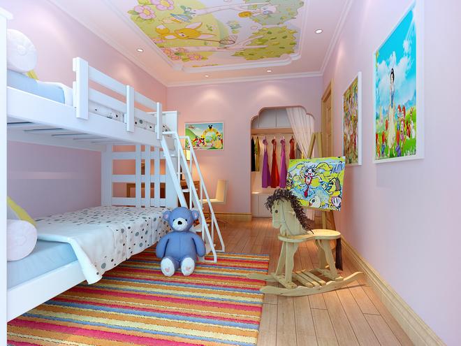 简约 三居 白领 儿童房图片来自业之峰装饰旗舰店在中景·江山赋130平三居的分享