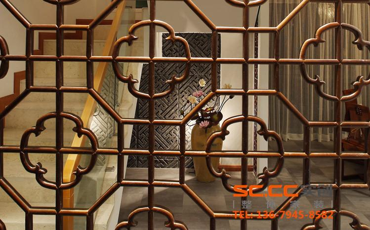混搭 收纳 80后 老人房 新中式 四居 兰州装修 实创装饰 大户型 玄关图片来自家居装饰-赫拉在大户型暖色系和谐新中式的分享