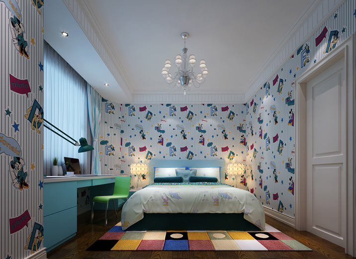 简约 别墅 欧式设计 别墅案例 儿童房图片来自实创装饰集团广州公司在天河简约欧式别墅的分享