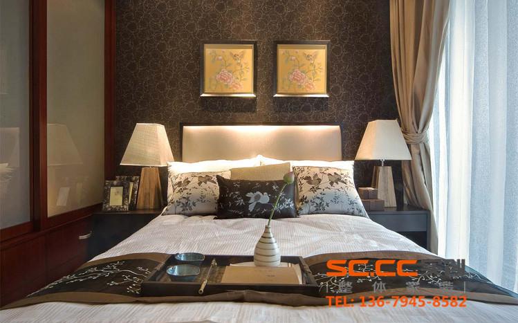 混搭 收纳 80后 老人房 新中式 四居 兰州装修 实创装饰 大户型 卧室图片来自家居装饰-赫拉在大户型暖色系和谐新中式的分享