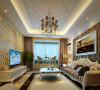 舒适欧式客厅为打造温馨舒适的客厅,客厅采用暖色调的设计,暖黄色墙漆,加上深褐色的窗帘,增加空间温馨。