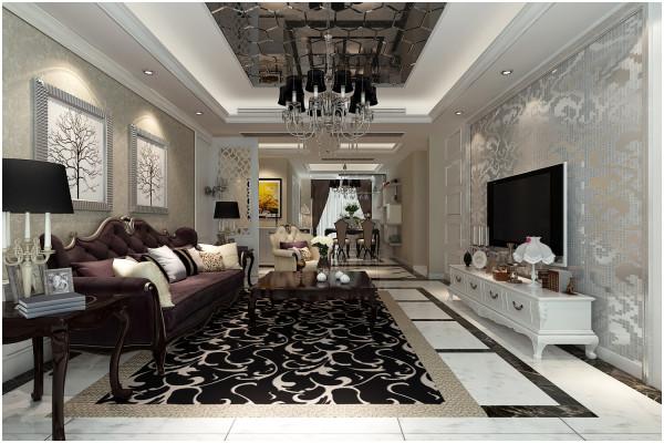 家具的布置在满足功能需求的同时又很好的与装修融合到了一起,背景搭配壁纸更能显出现代简欧风格的低调奢华与时尚,