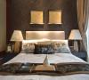 卧室采用了两种色调,老人房是咖啡色,稳重雅致。