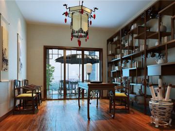 神秘优雅现代中式别墅设计