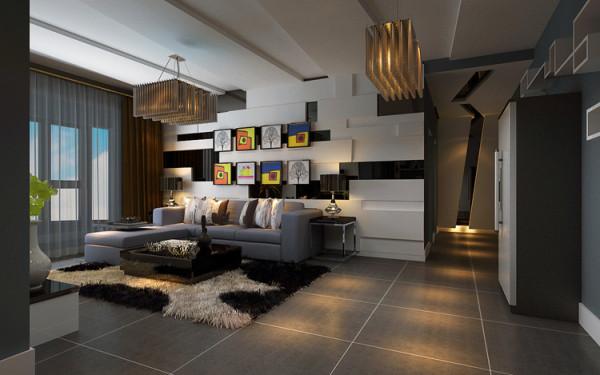 郑州正商蓝海港湾三室两厅两卫130平方创意设计装修案例-客厅装修效果图