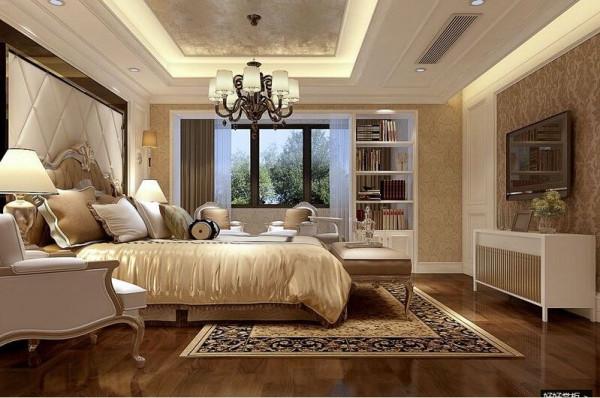 所有空间只有女儿房是简欧风格,这是业主的要求之一,从设计手法上运用中式风格的对称性特点