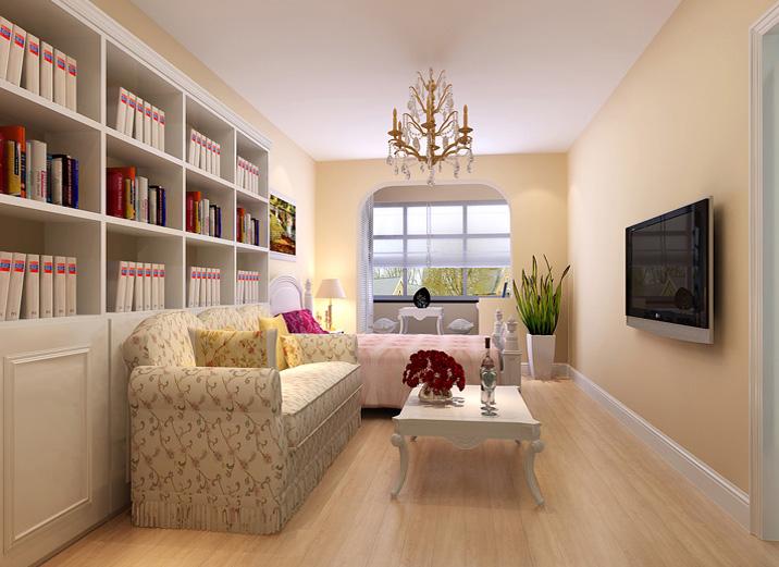 二居 万兴苑 旧房改造 收纳 客厅图片来自实创装饰集团广州公司在乡村田园 两室一厅的分享