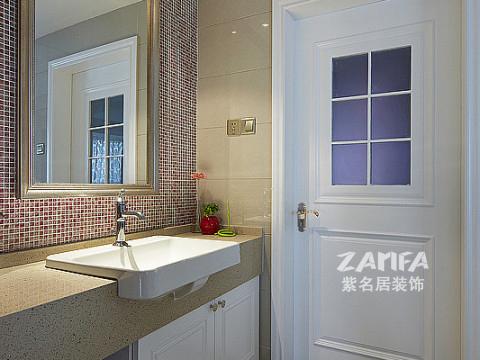 三居 简约 80后 小资 卫生间图片来自紫名居装饰在麒麟山庄三居室现代简约的分享