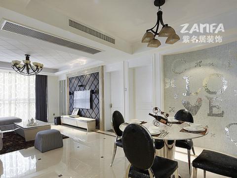 三居 简约 80后 小资 餐厅图片来自紫名居装饰在麒麟山庄三居室现代简约的分享