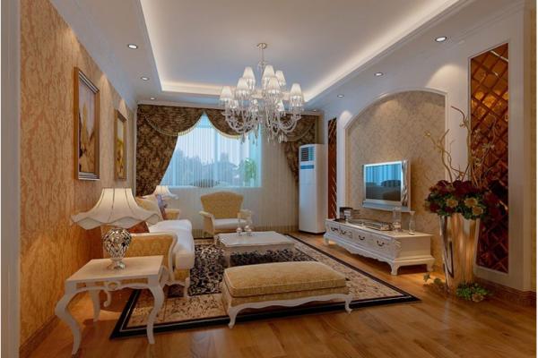 成都绿地中心468公馆-三居室-102平米-客厅装修设计