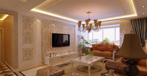 中海明珠165平欧式风格客厅
