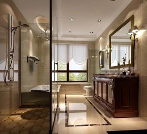 美式 新古典 西山壹号院 白领 卫生间图片来自沙漠雪雨在西山壹号院 美式新古典的分享