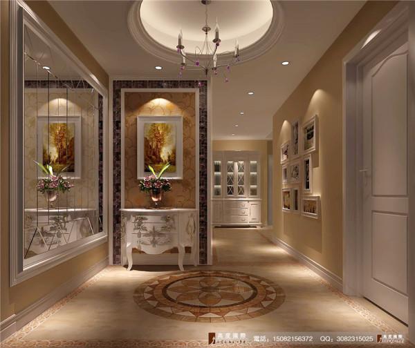 中环岛门厅细节效果图-成都高度国际装饰