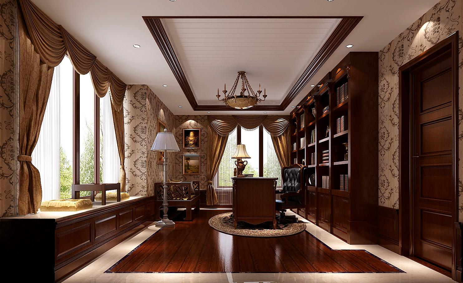 美式 新古典 西山壹号院 白领 书房图片来自沙漠雪雨在西山壹号院 美式新古典的分享