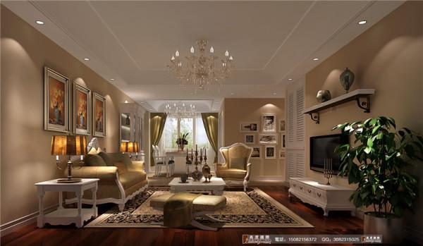 中环岛客厅细节效果图-成都高度国际装饰