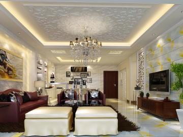 凤凰城200平简欧的白色温馨的家