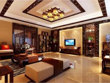 孔雀城260平中式风格