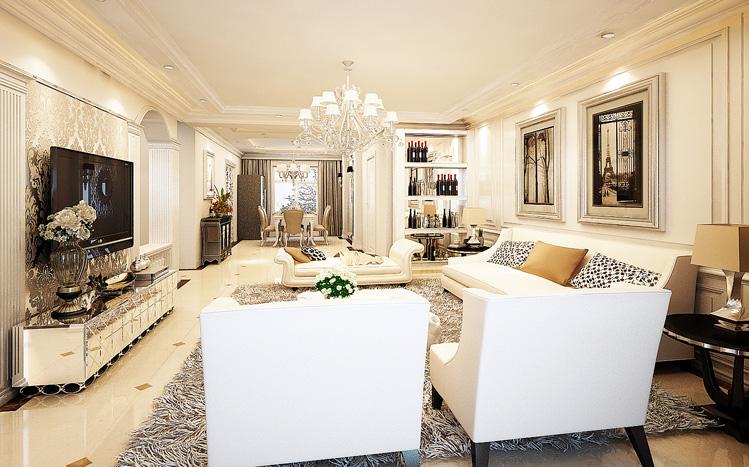 客厅图片来自长沙实创装饰范范在细腻的欧风豪宅的分享