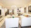 稳重而简约温暖的客厅,用线条感极强的线条及木镶嵌装饰相互搭配,以古典偏现代的手法连贯餐厅及公共空间,搭配罗马柱造型,大面积的落地采光,营造出简约高质感的空间氛围,典雅而不繁复