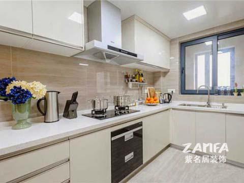 简约 二居 白领 收纳 80后 小资 厨房图片来自紫名居装饰在陶然经典两居室现代简约的分享