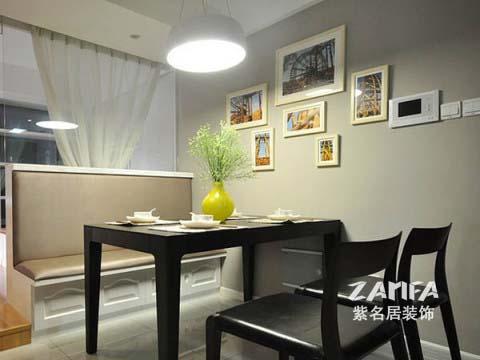 简约 二居 白领 收纳 80后 小资 餐厅图片来自紫名居装饰在陶然经典两居室现代简约的分享