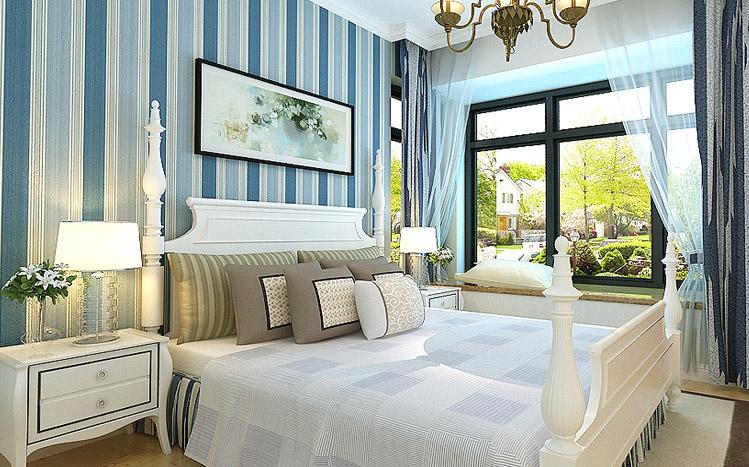 简约 地中海 蓝色 三居 80后 卧室图片来自长沙实创装饰范范在简约而不简单的幸福家的分享