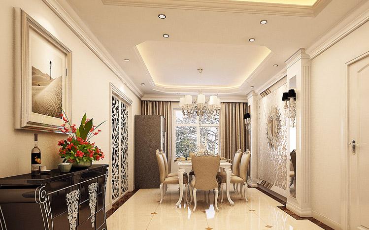 餐厅图片来自长沙实创装饰范范在细腻的欧风豪宅的分享