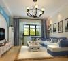 客厅是主人与客人会面的地方,也是房子的门面。地中海风格,很多人脑海中的第一反应应该就是阳光、沙滩、碧海、云天、清风、夕照这样一幅梦想中画面。摆设、颜色都是以能反映主人的性格、特点的。