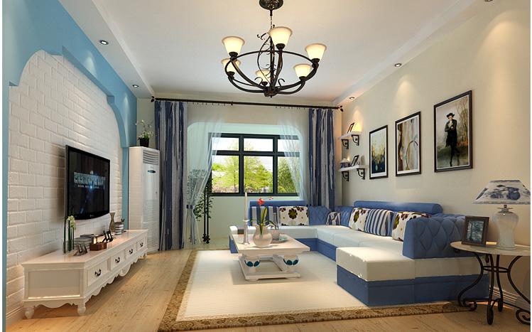简约 地中海 蓝色 三居 80后 客厅图片来自长沙实创装饰范范在简约而不简单的幸福家的分享