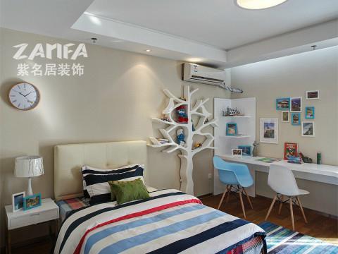 三居 混搭 白领 收纳 小资 卧室图片来自紫名居装饰在五矿九玺台三居室混搭的分享