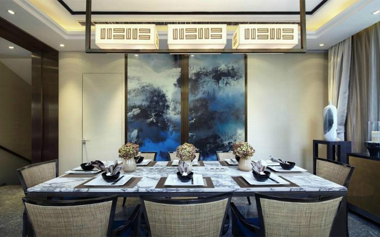 餐厅 餐厅图片来自长沙实创装饰范范在简约透出奢侈风格的分享