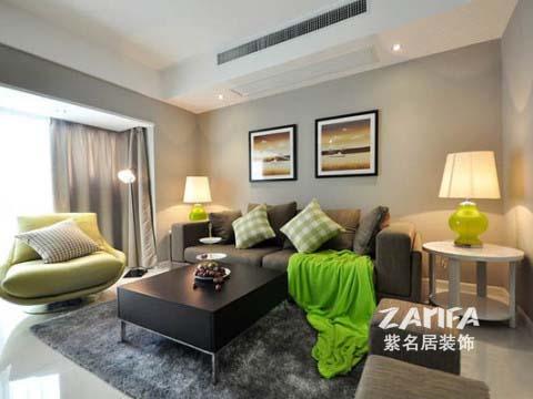 简约 二居 白领 收纳 80后 小资 客厅图片来自紫名居装饰在陶然经典两居室现代简约的分享