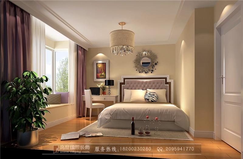 80后 小资 二居 卧室图片来自高度国际家居别墅装饰在现代的分享
