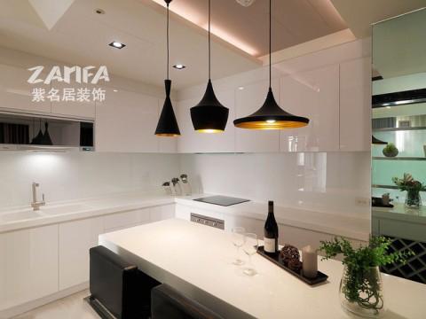 简约 收纳 80后 小资 厨房图片来自紫名居装饰在托乐嘉一居室小户型显大空间的分享
