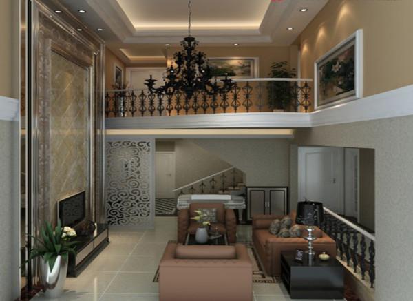 设计理念:客厅的层高有5米8.是整个房子的重心设计,需赋有设计感,及起到豁然开朗的感觉。 亮点:客厅是一个复式的户型。设计兼备优雅 和谐 舒适的特点,受到了业主的喜爱。