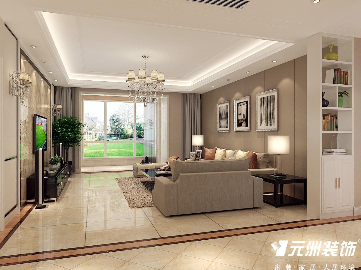 现代简约 200国仕山 四居室现代 欧式 80后 客厅图片来自石家庄-小程在国仕山200平现代简约风格效果图的分享