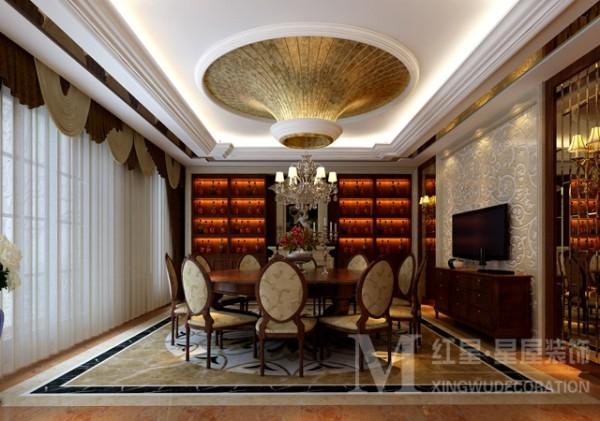 蓝光观岭别墅新古典风格装修设计方案