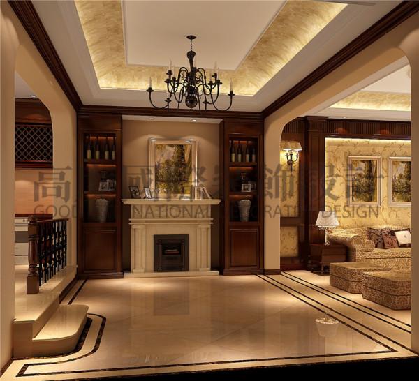 成都高度国际装饰设计-楼梯口