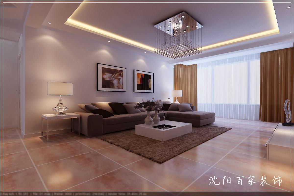 简约 三居 149平 白领 客厅 小资 80后 沙发背景墙图片来自百家装饰小米在沈阳惠民新苑的分享